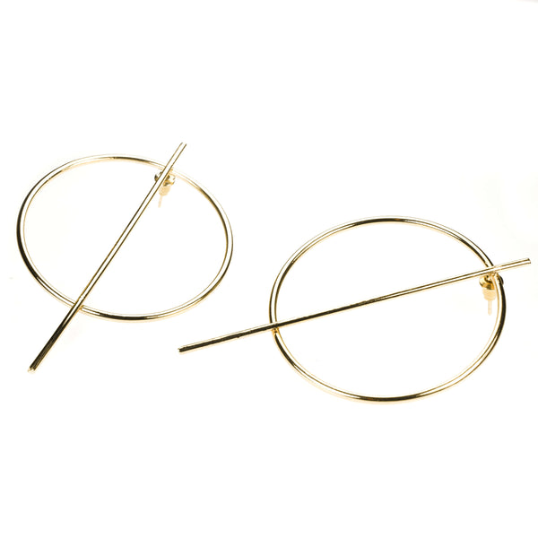 Beautiful Classic Endless Hoop Solid Gold Earrings By Jewelry Lane