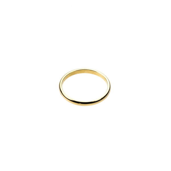 Beautiful Simple Evergreen Solid Gold Ring By Jewelry Lane