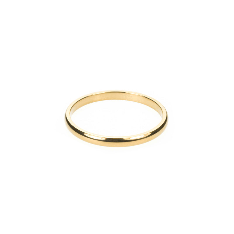 Simple Gold Band Ring By Jewelry Lane