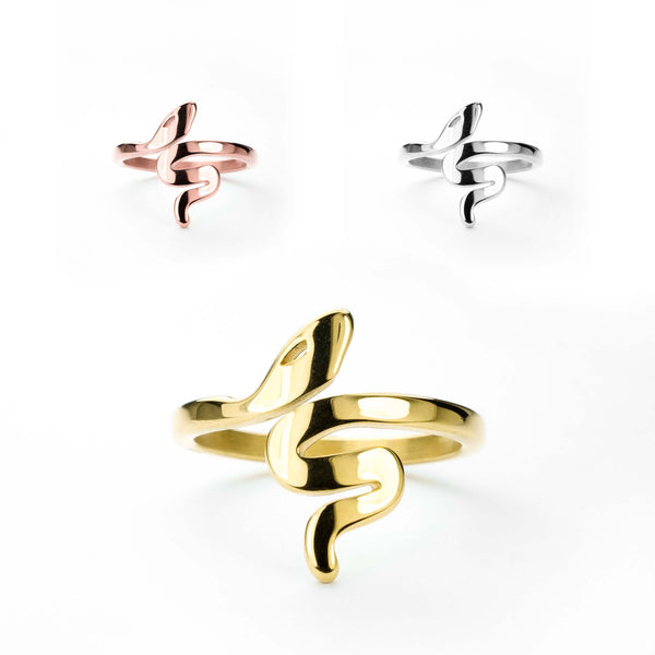 Beautiful Unique Snake Solid Gold Rings By Jewelry Lane