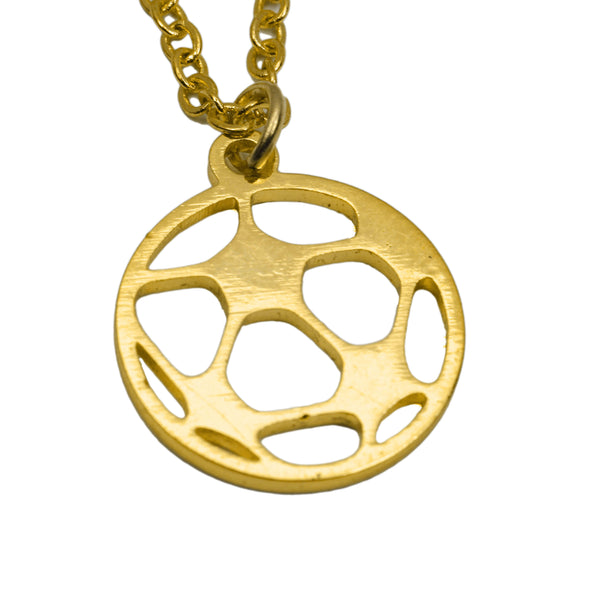 Unique Beautiful Sporty Soccer Ball Design Solid Gold Pendant By Jewelry Lane