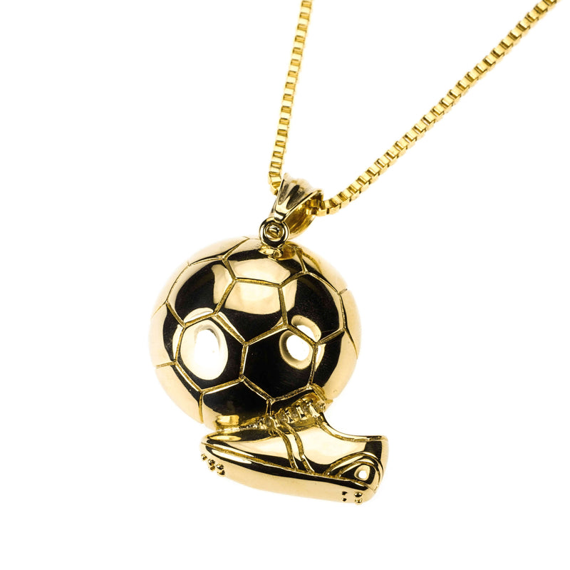 Exquisite Sporty Soccer Ball Design Solid Gold Pendant By Jewelry Lane
