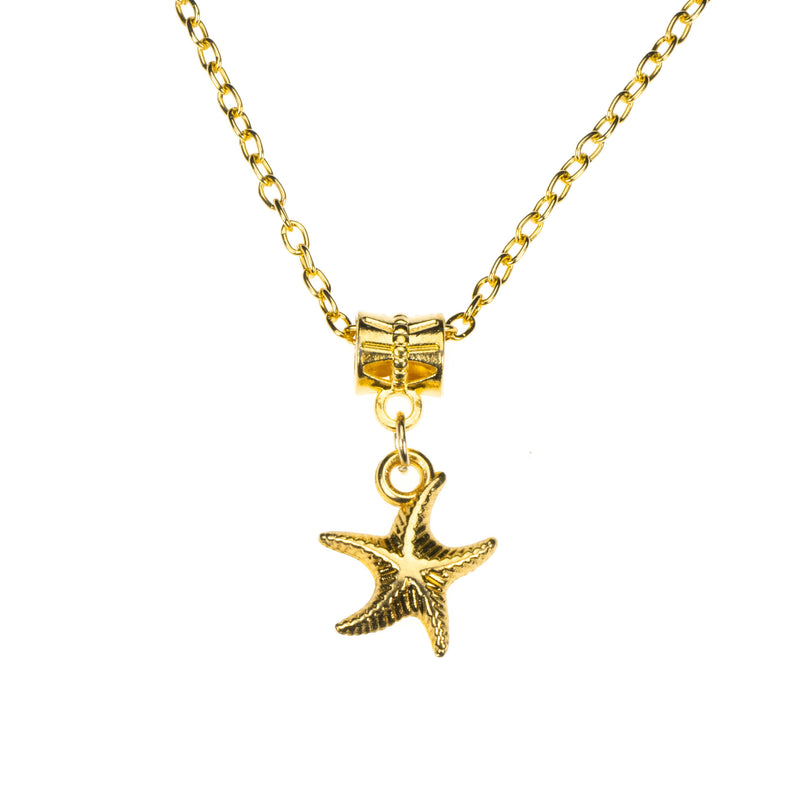 Simple Charming Dangling StarFish Design Solid Gold Pendant By Jewelry Lane