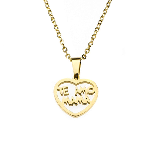 Beautiful Simple Expressive Te Amo Mama Solid Gold Pendant By Jewelry Lane