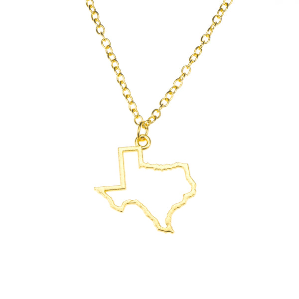 Beautiful Unique Texas State Design Solid Gold Pendant By Jewelry Lane