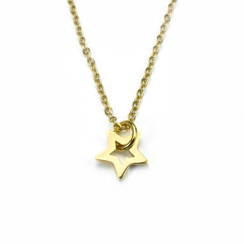 Beautiful Charm Star Design Solid Gold Pendant By Jewelry Lane