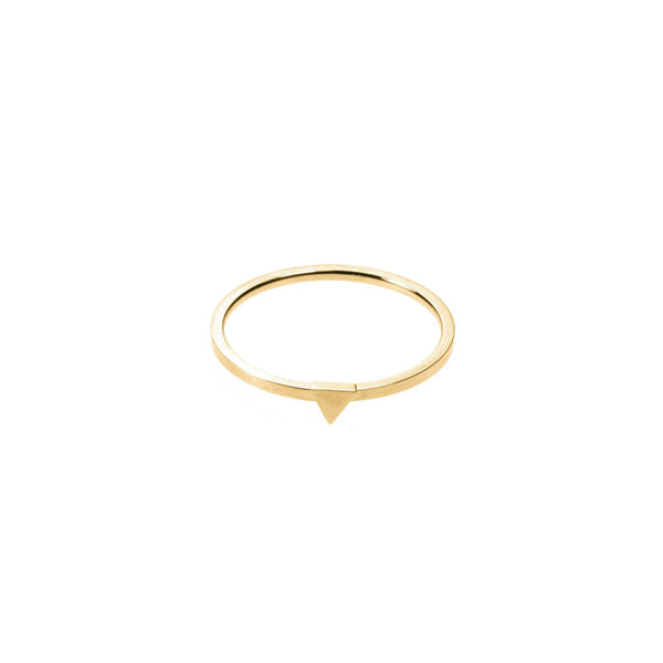 Simple Elegant Triangle Stacker Solid Gold Ring By Jewelry Lane