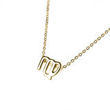 Beautiful Design Zodiac Chic Virgo Solid Gold Pendant By Jewelry Lane