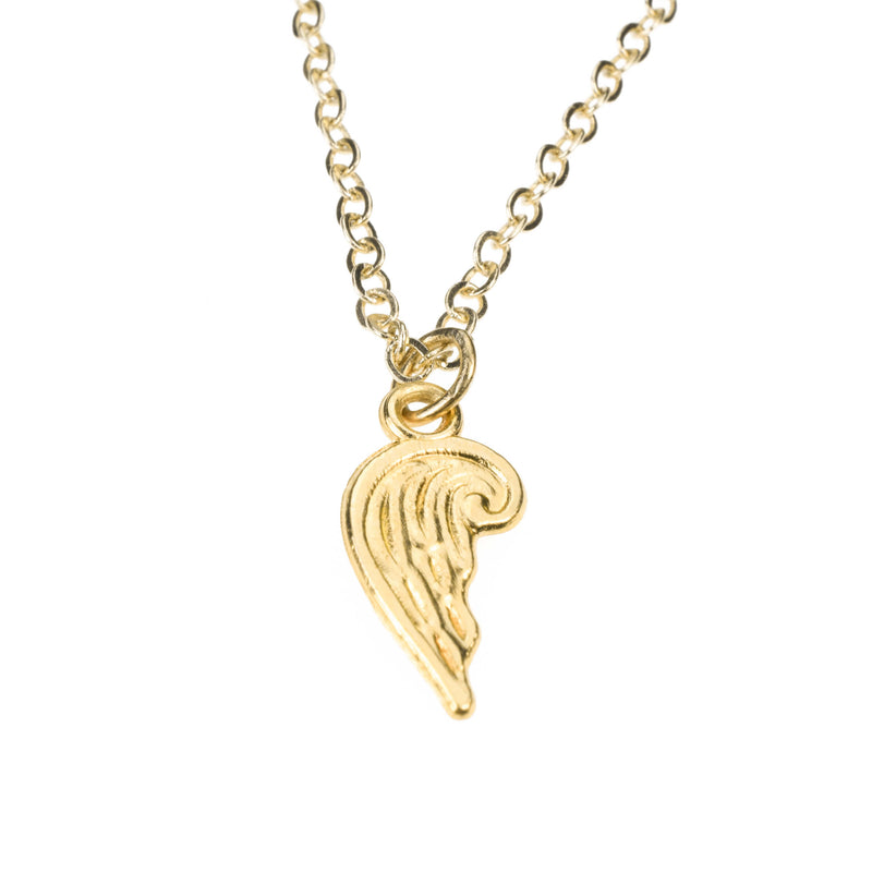 Beautiful Simple Bird Wing Design Solid Gold Pendant By Jewelry Lane
