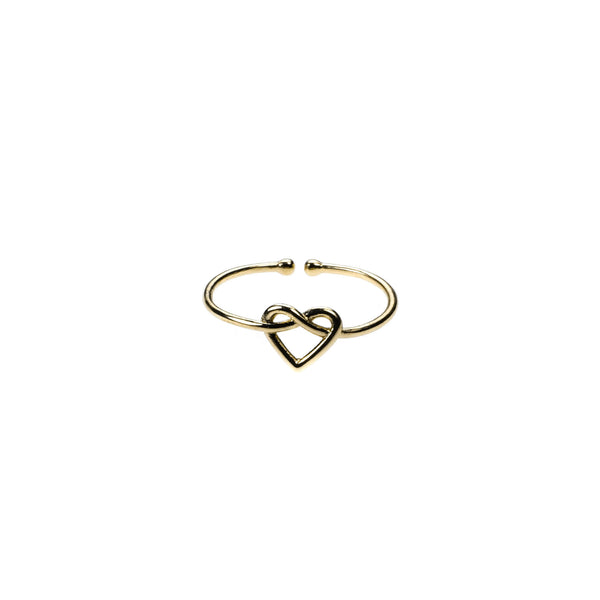 Beautiful Wire Style Heart Stracker Solid Gold Ring By Jewelry Lane