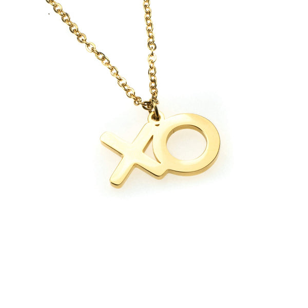 Beautiful XO Hugs And Kisses Solid Gold Pendant By Jewelry Lane