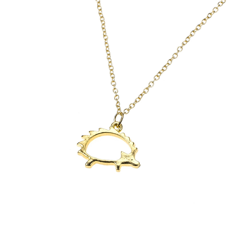Beautiful Classic Porcupine Design Solid Gold Pendant By Jewelry Lane