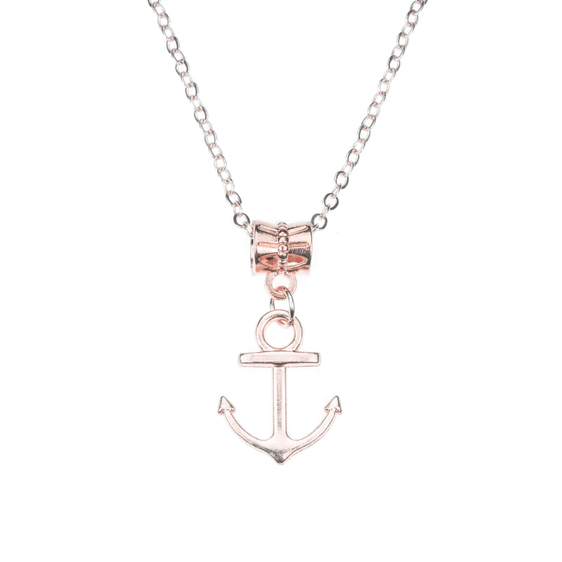 Beautiful Classic Dangling Anchor Solid Rose Gold Pendant By Jewelry ane