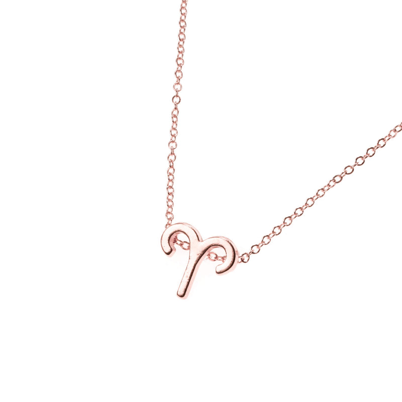 Beautiful Design Zodiac Chic Aries Solid Rose Gold Pendant By Jewelry Lane