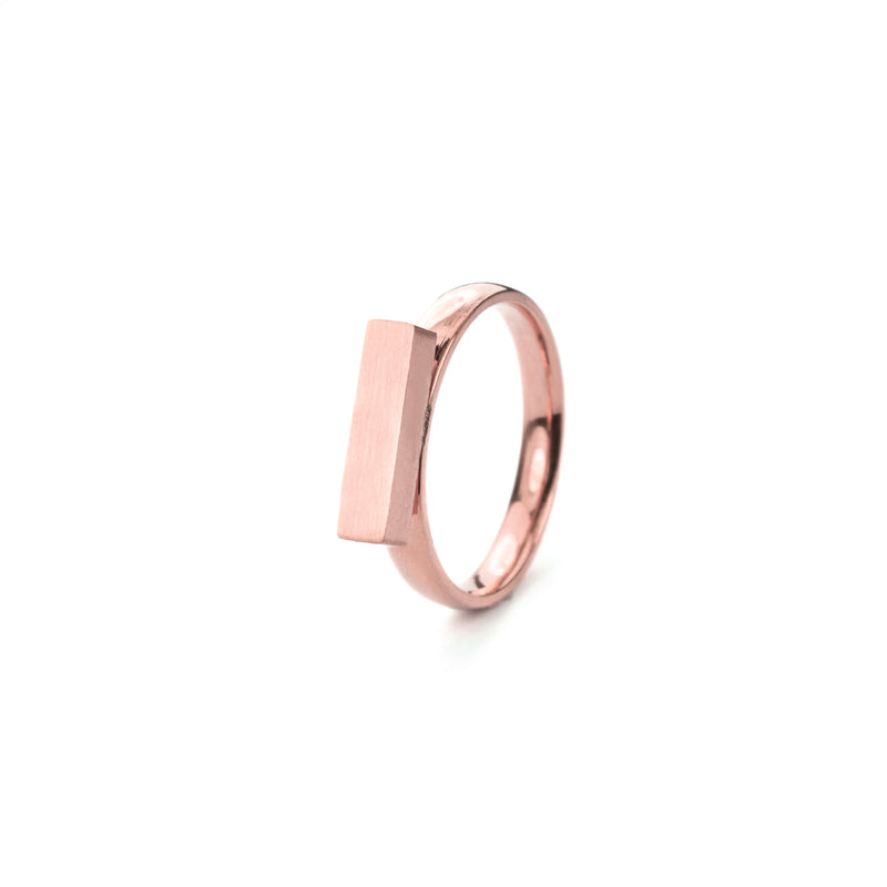 Beautiful Solid Rose Gold Minimalist Stacker Ring by Jewelry Lane