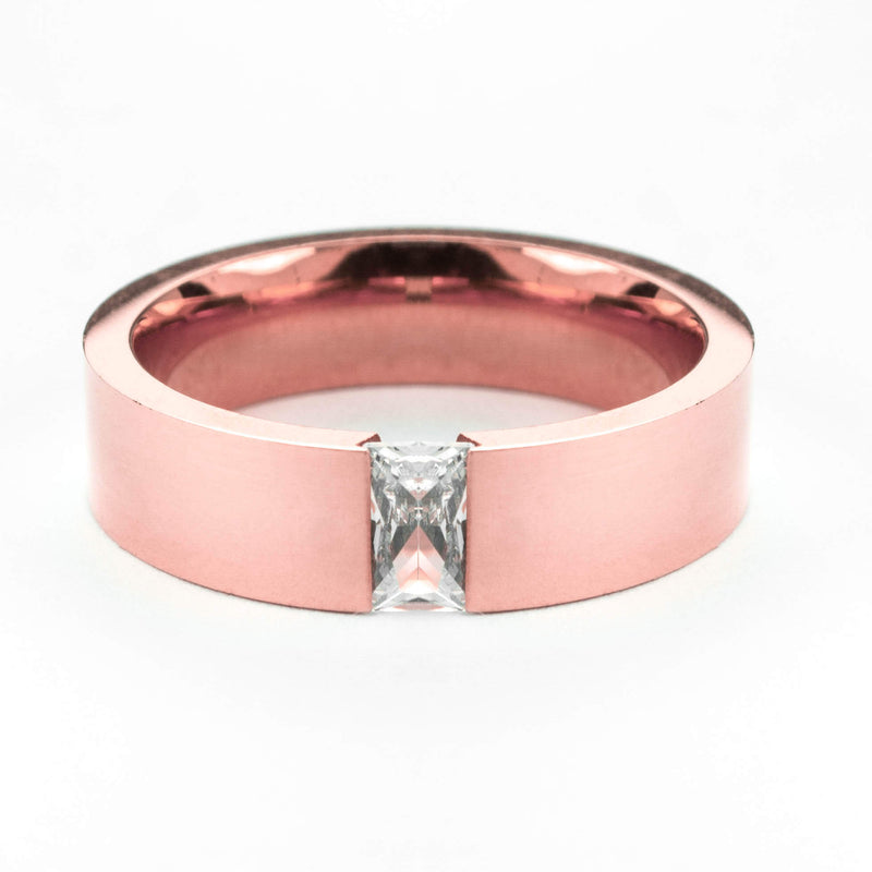 Exquisite Classic Diamond Solid Rose Gold Ring By Jewelry Lane