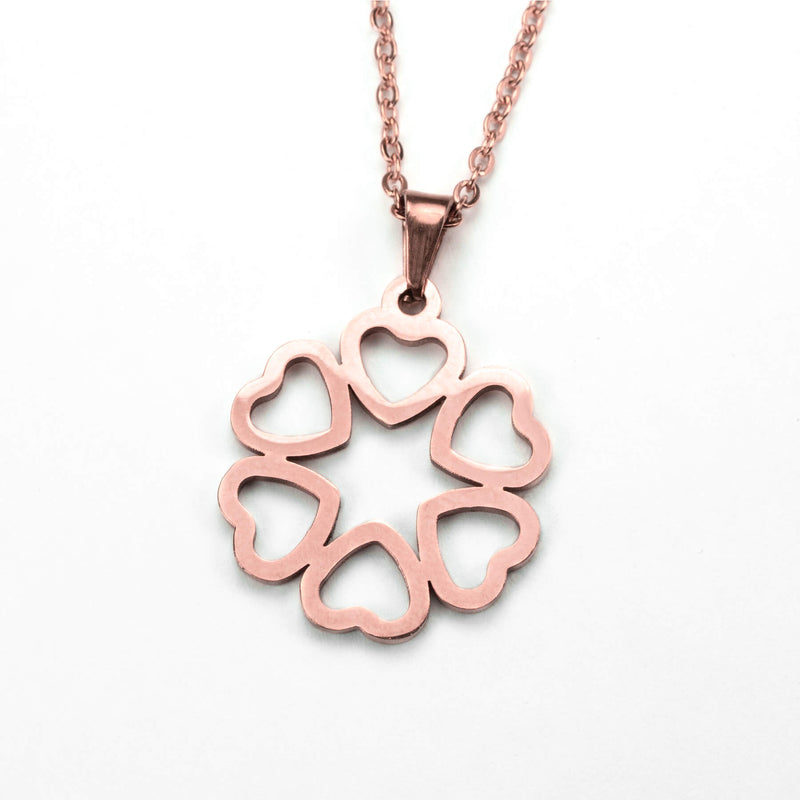 Beautiful Endless Love Heart Solid Rose Gold Pendant By Jewelry Lane