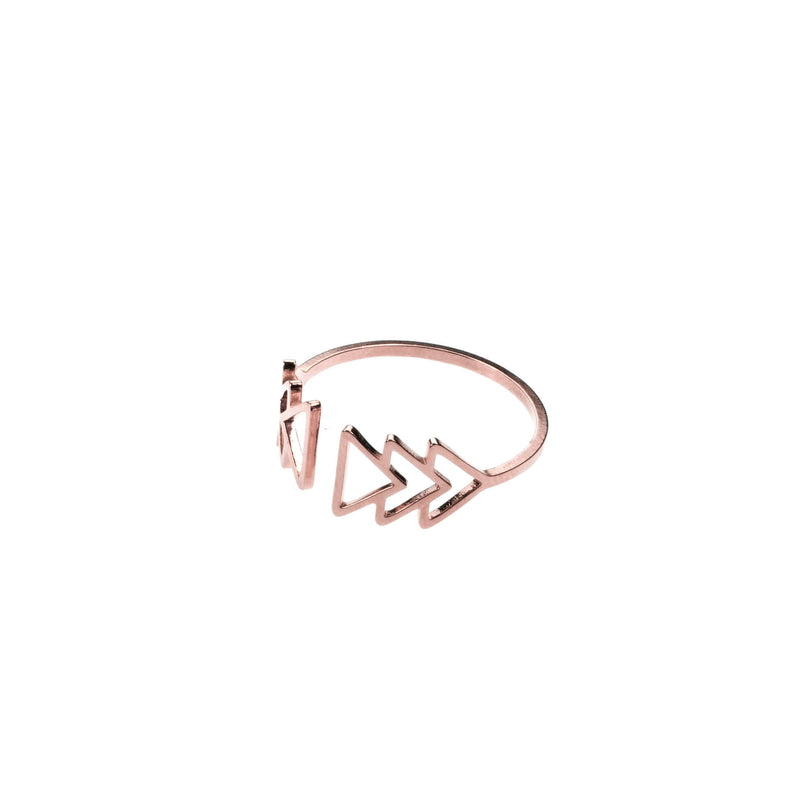 Elegant Beautiful Fast Forward Stacker Solid Rose Gold Ring By Jewelry Lane