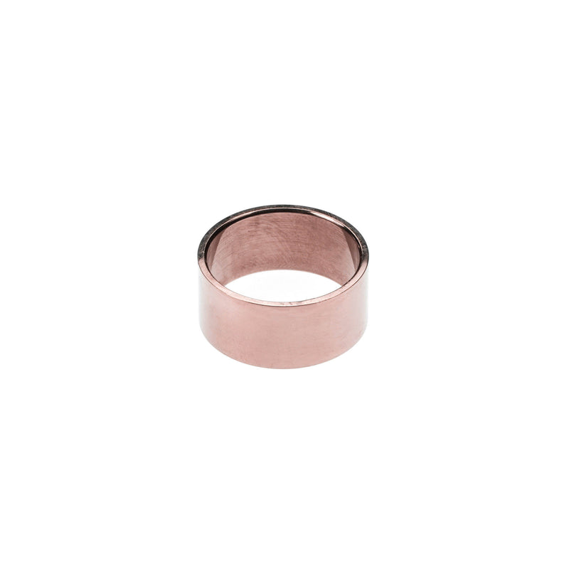 Simple Polished Endless Design Solid Rose Gold Band Ring By Jewelry Lane