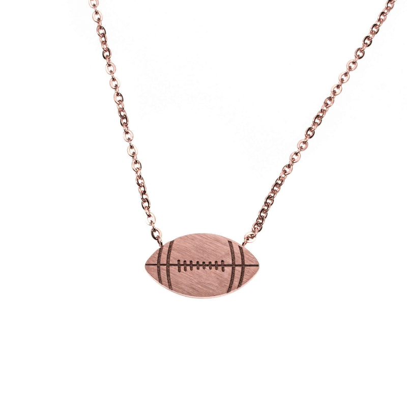 Beautiful Unique Football Solid Rose Gold Pendant By Jewelry Lane