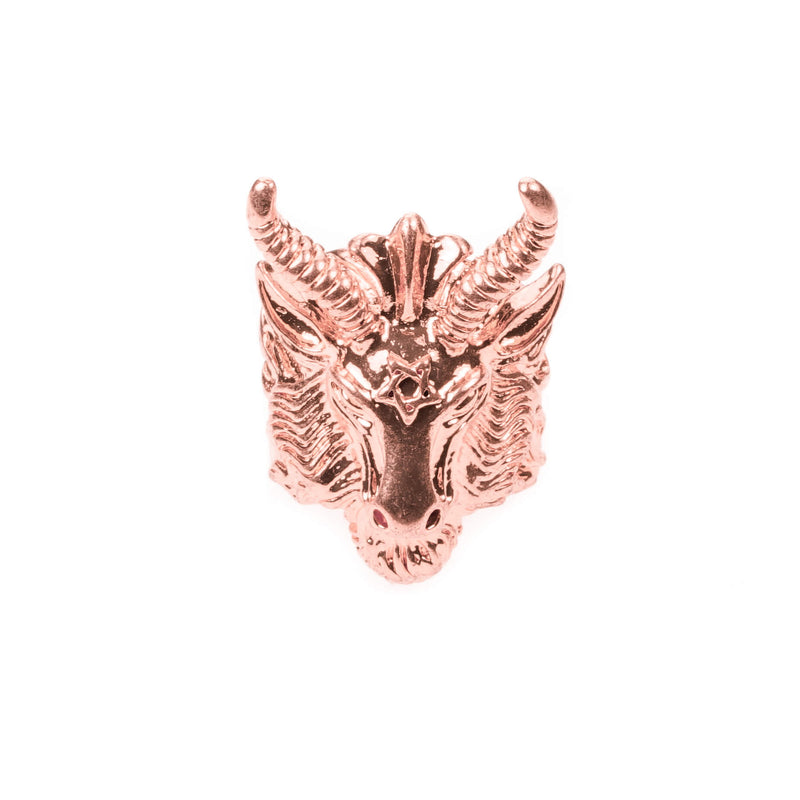 Minotaur Solid Rose Gold Ring By Jewelry Lane