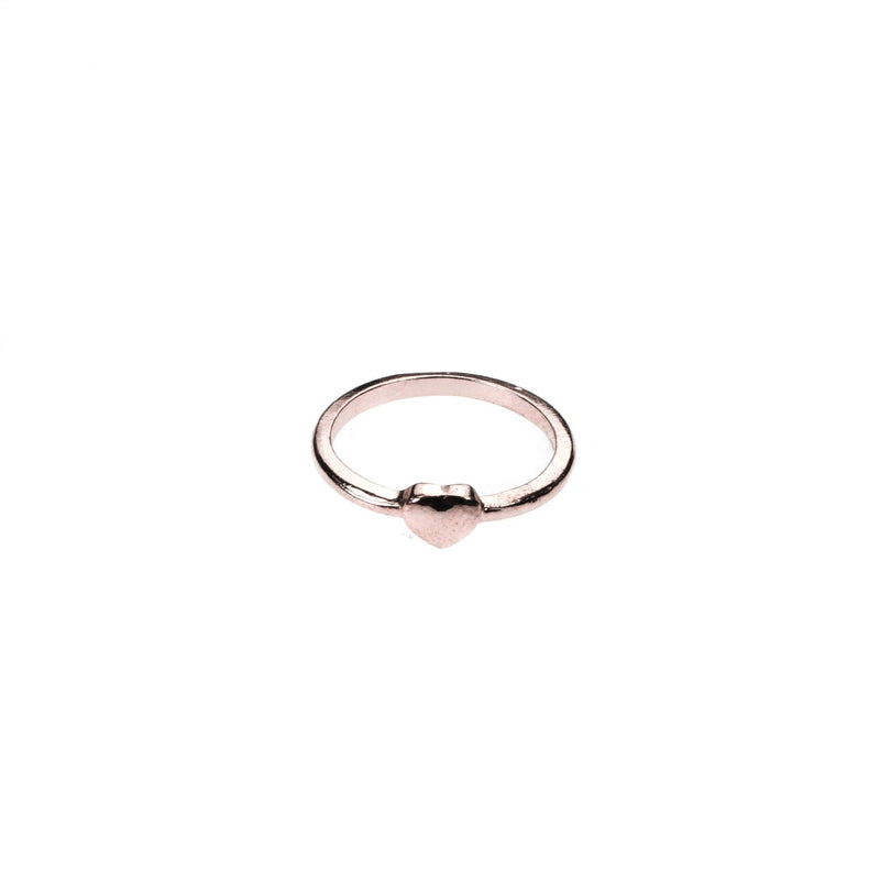 Beautiful Simple Heart Stacker Rose Gold Vermeil Ring By Jewelry Lane