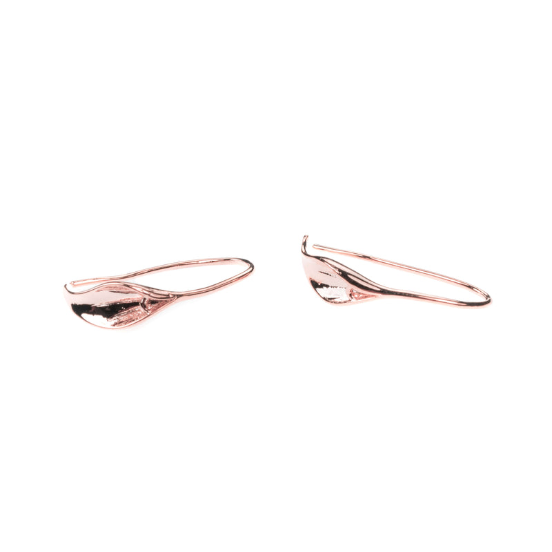 Beautiful Designer Evergreen Hoop Solid Rose Gold Earrings By Jewelry Lane