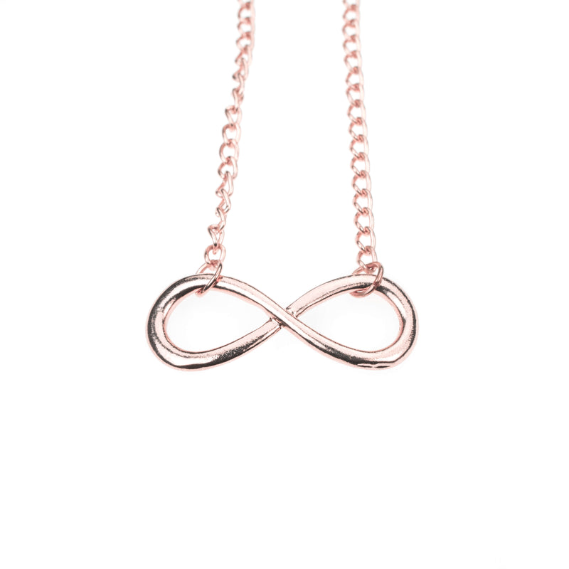 Unique Mathematical Infinity Sign Solid Rose Gold Necklace By Jewelry Lane