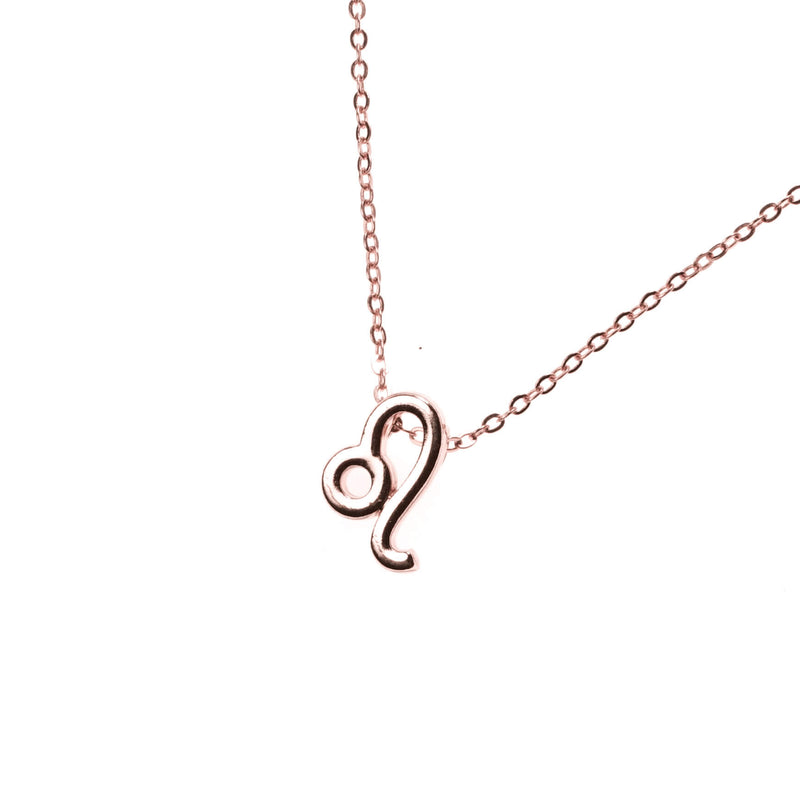 Beautiful Design Zodiac Chic Leo Solid Rose Gold Pendant By Jewelry Lane