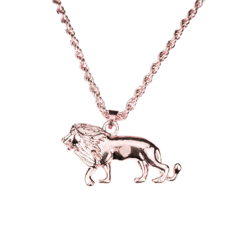 Elegant Royal Lion Solid Rose Gold Pendant By Jewelry Lane