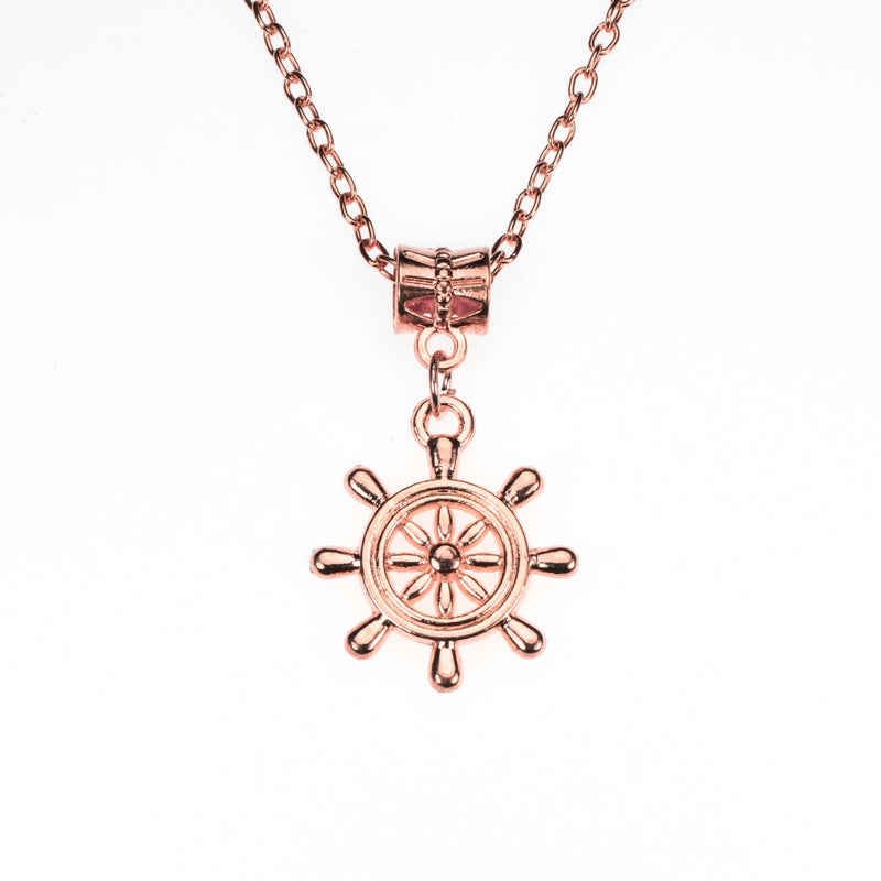 Beautiful Vintage Nautical Style Solid Rose Gold Pendant By Jewelry LAne