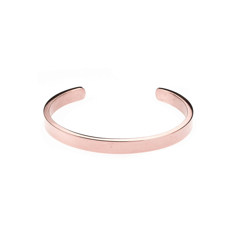 Elegant Simple Plain Cuff Solid Rose Gold Armband Bangle By Jewelry Lane