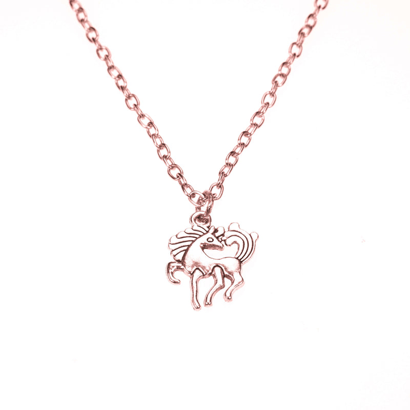 Beautiful Charming Pony Horse Solid Rose Gold Pendant By Jewelry Lane
