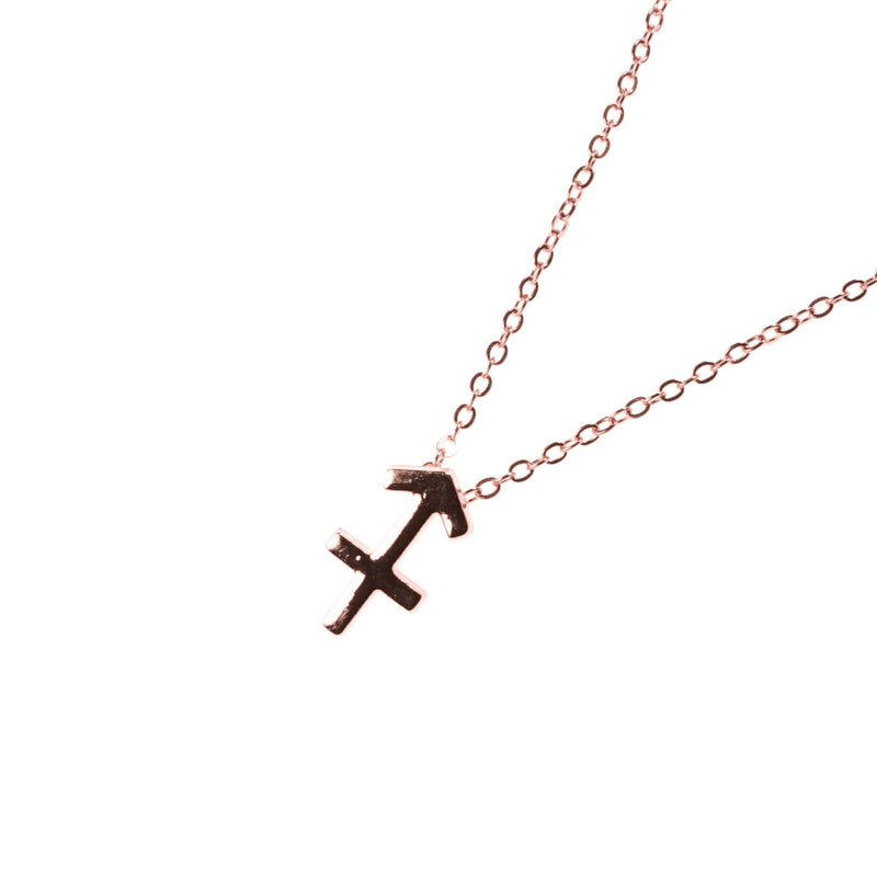 Beautiful Design Zodiac Chic Sagittarius Solid Rose Gold Pendant By Jewelry Lane