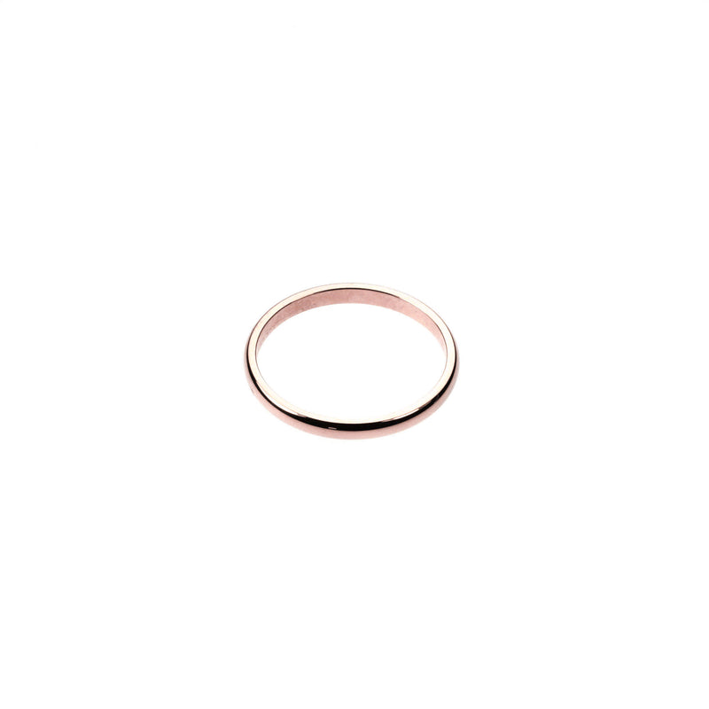 Beautiful Simple Evergreen Solid Rose Gold Ring By Jewelry Lane
