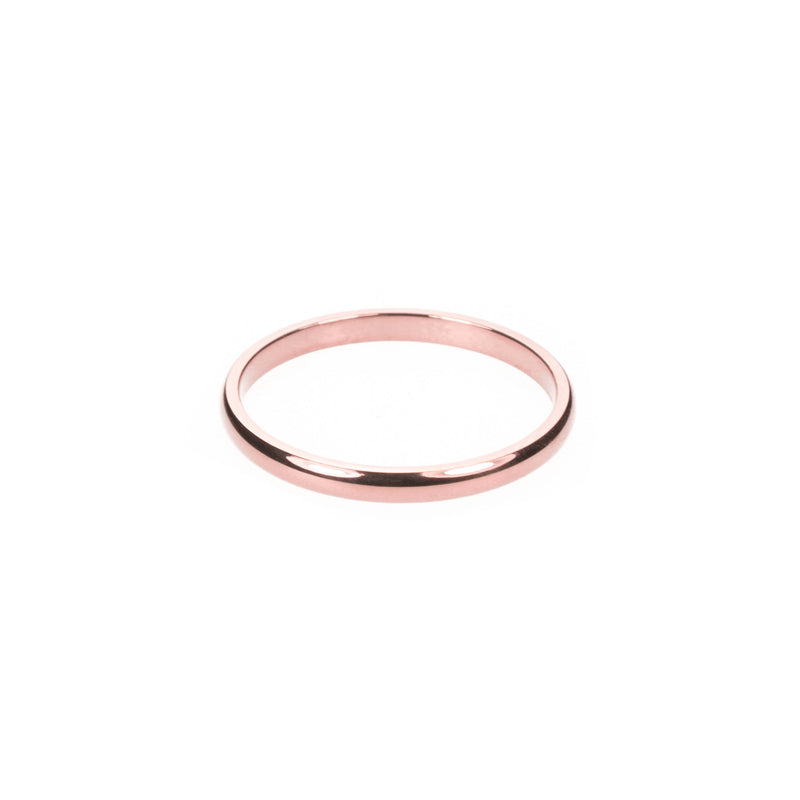 Simple Rose Gold Band Ring By Jewelry Lane