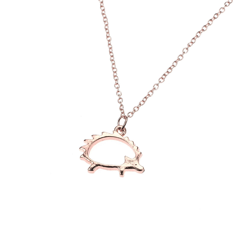 Beautiful Classic Porcupine Design Solid Rose Gold Pendant By Jewelry Lane
