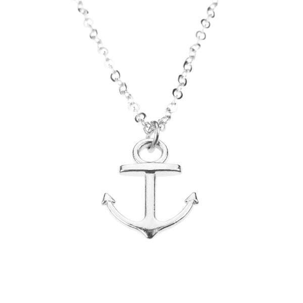 Beautiful Amazing Anchor Dropping Style Solid White Gold Pendant By Jewelry Lane