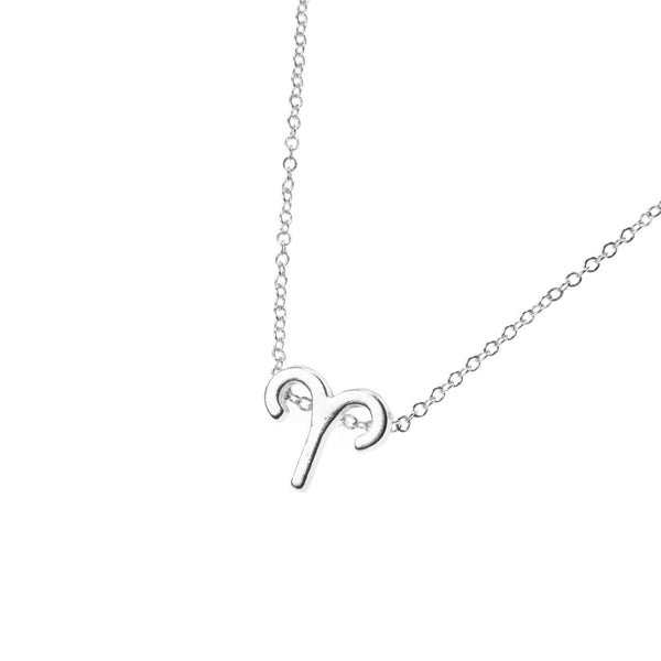 Beautiful Design Zodiac Chic Aries Solid White Gold Pendant By Jewelry Lane