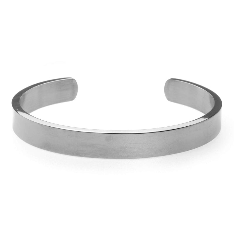 Beautiful Solid White Gold Open Cuff Bangle by Jewelry Lane