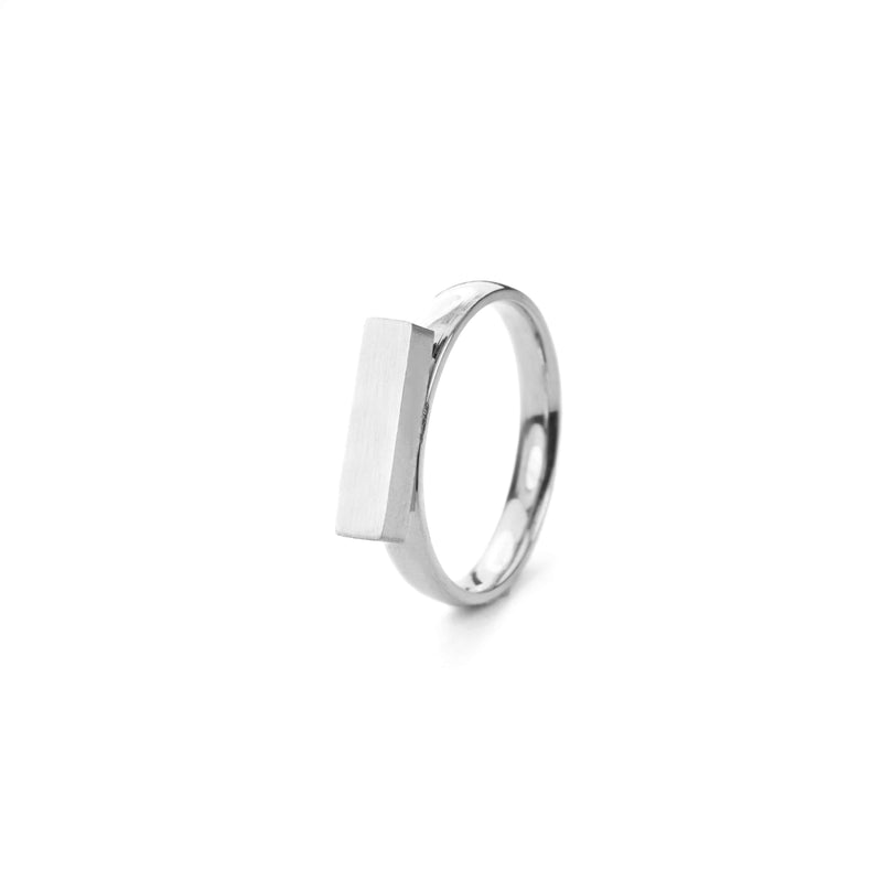 Beautiful Solid White Gold Minimalist Stacker Ring by Jewelry Lane