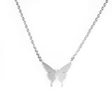Beautiful Gorgeous Butterfly Solid White Gold Necklace By Jewelry Lane