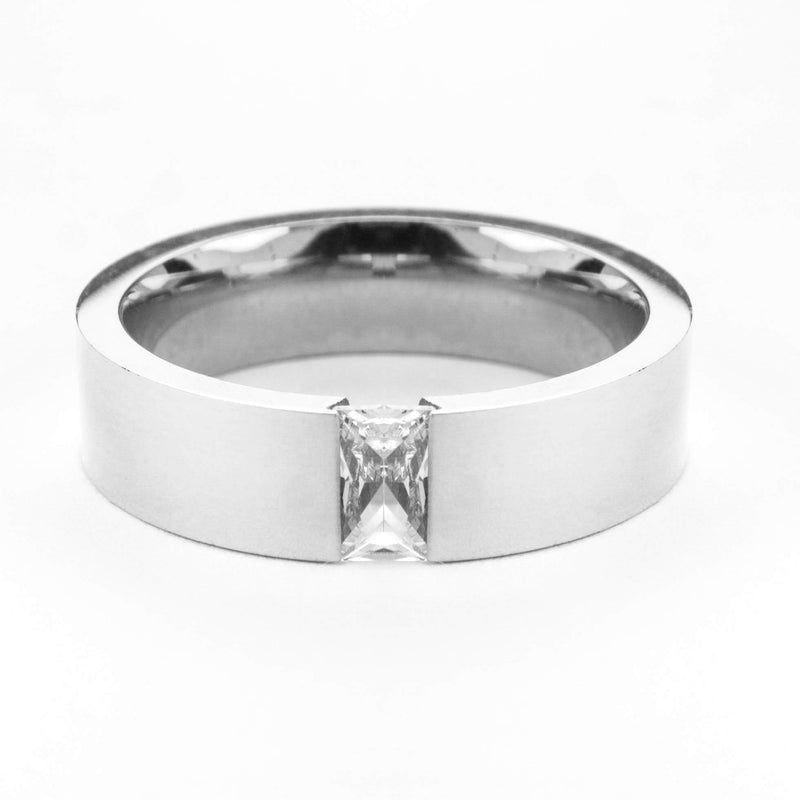 Exquisite Classic Diamond Solid White Gold Ring By Jewelry Lane