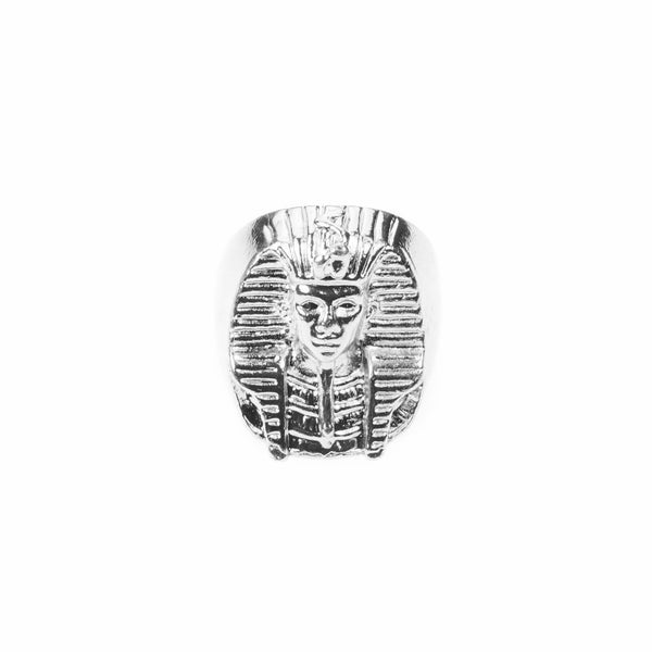 Elegant Beautiful Mythical Egyptian Sphinx Design Solid White Gold Ring By Jewelry Lane