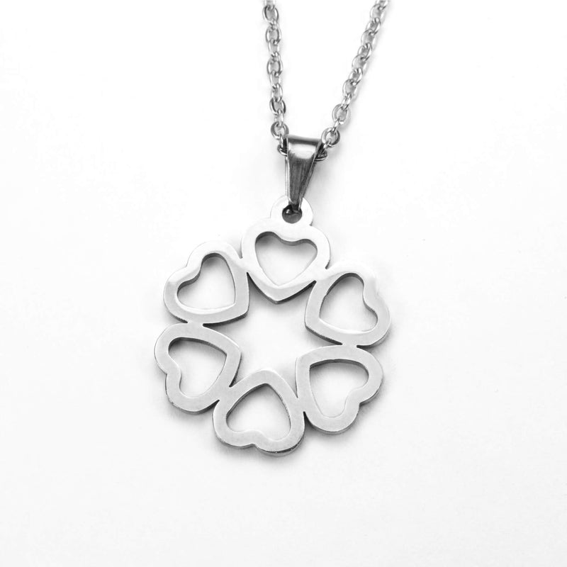 Beautiful Endless Love Heart Solid White Gold Pendant By Jewelry Lane