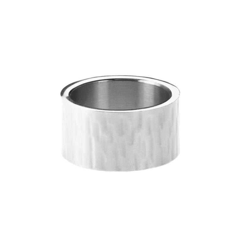 Beautiful Simple Flat Design Solid White Gold Band Ring By Jewelry Lane