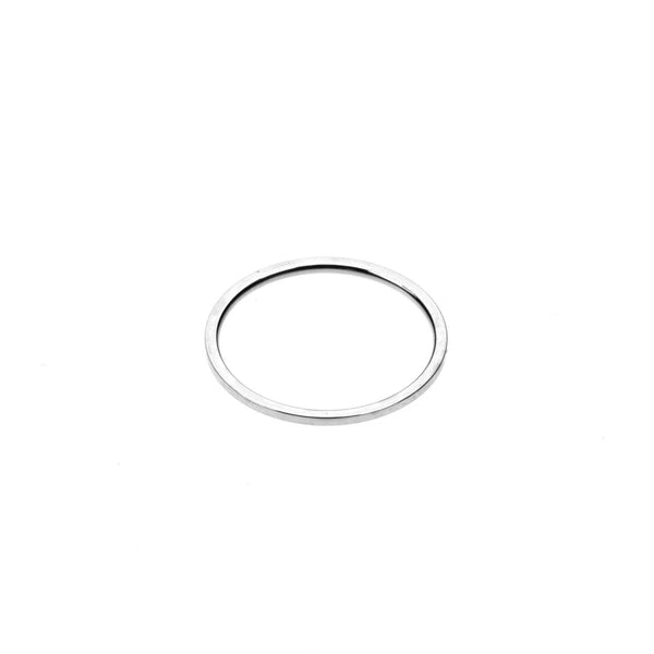 Plain Simple Endless Design Solid White Gold Band Ring By Jewelry Lane
