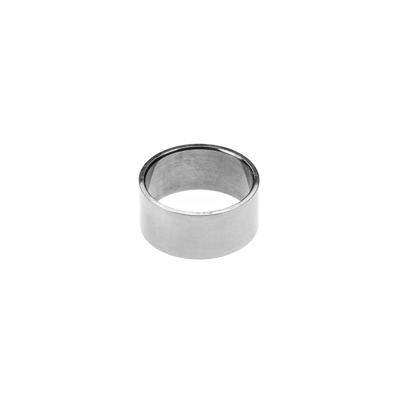 Simple Polished Endless Design Solid White Gold Band Ring By Jewelry Lane
