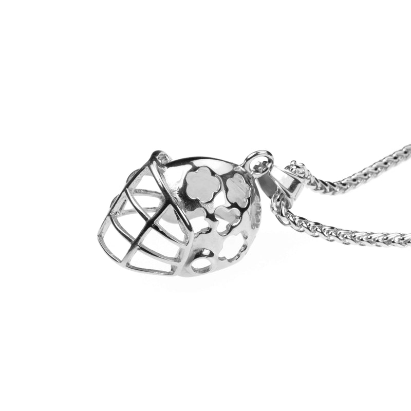 Elegant Sporty Football Helmet Design Solid White Gold Pendant By Jewelry Lane