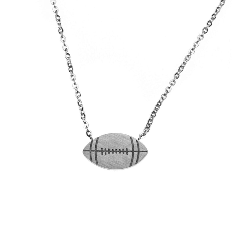 Beautiful Unique Football Solid White Gold Pendant By Jewelry Lane